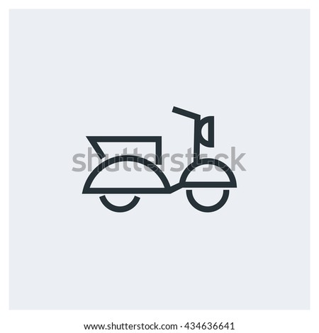 Scooter Icon, Scooter Icon UI, Scooter Icon Vector, Scooter Icon Eps, Scooter Icon Jpg, Scooter Icon Picture, Scooter Icon Flat, Scooter Icon App, Scooter Icon Web, Scooter Icon Art - stock vector