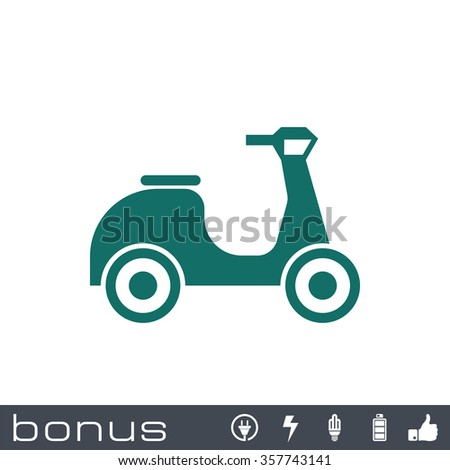 scooter sign icon - stock vector