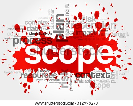 SCOPE word cloud, business concept - stock vector