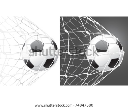 Score a goal, soccer ball - stock vector