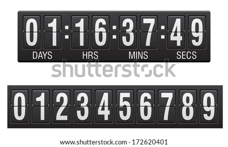 scoreboard countdown timer vector illustration isolated on white background - stock vector