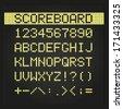 Scoreboard digital font - stock vector