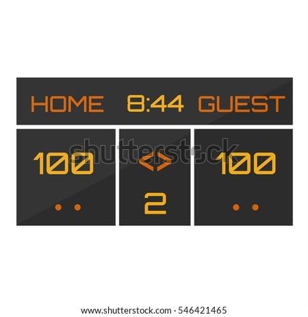 Scoreboard Stock Images, Royaltyfree Images & Vectors