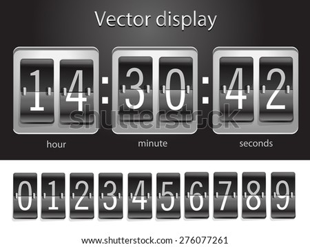 Scoreboard with a collection of numbers - stock vector
