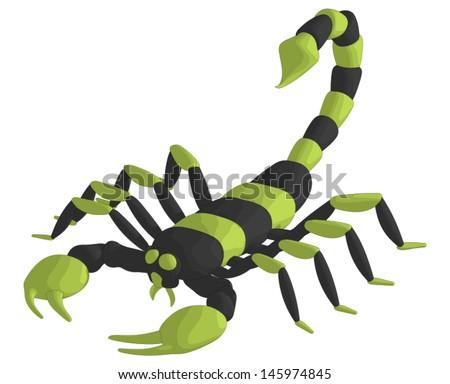 Scorpion - stock vector