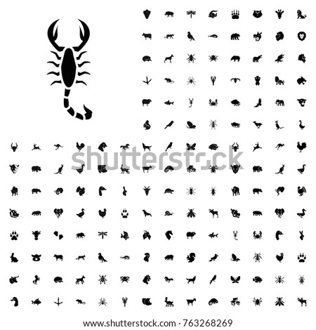 Scorpion icon illustration isolated vector sign symbol. animals icon set for web and mobile.