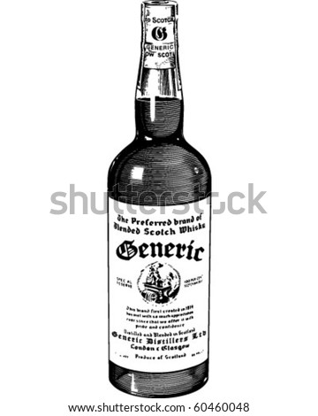 Scotch Whiskey - Retro Clip Art - stock vector