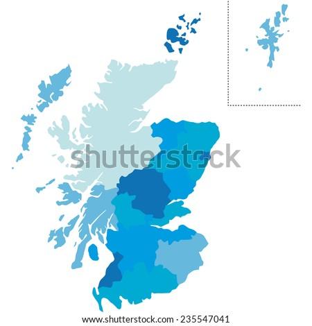 scotland - stock vector