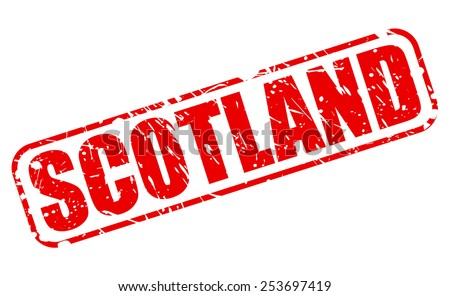 Scotland red stamp text on white - stock vector
