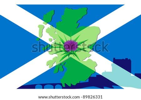 Scottish symbolism - stock vector