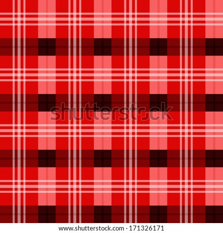 Scottish tartan texture - Shades of red - stock vector