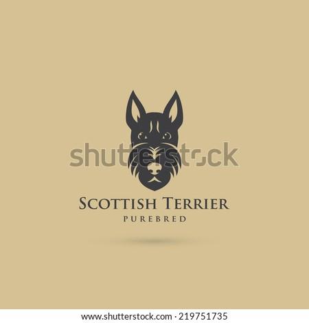 Scottish terrier symbol - vector illustration - stock vector