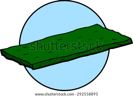 scouring pad - stock vector