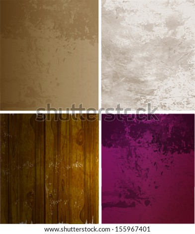 Scrap booking set. old paper textures. Eps 10 file with transparencies and drop shadow(banner). - stock vector