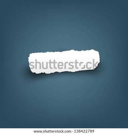 Scrap Of Fragmentary Paper, Vector Illustration - stock vector