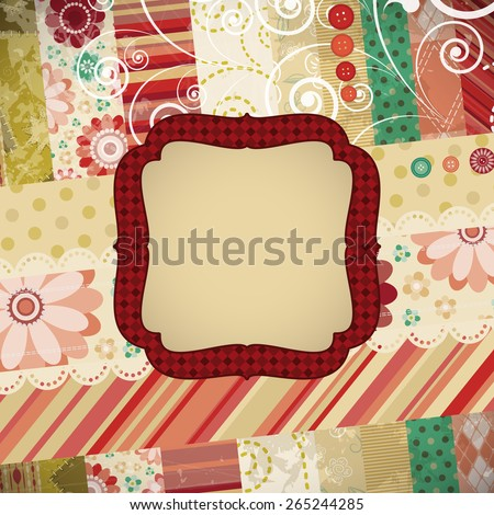 Scrap patchwork background.