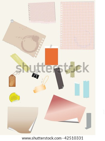 scrap set - stock vector