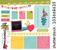 Scrapbook Design Elements - Birthday Baby Set - in vector - stock vector