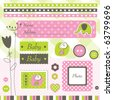 Scrapbook design elements Cute hand - drawn design elements for cards, greetings, albums... - stock vector