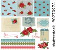 Scrapbook Design Elements - Vintage Flowers in vector - stock