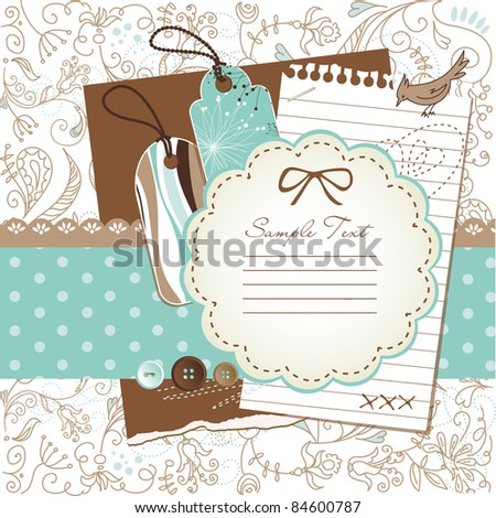 scrapbook elements - stock vector