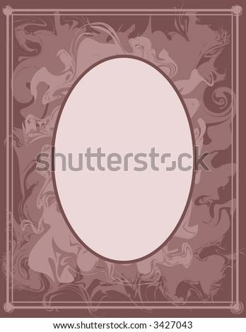 Scrapbook Frame - Mauve Swirl Frame - stock vector
