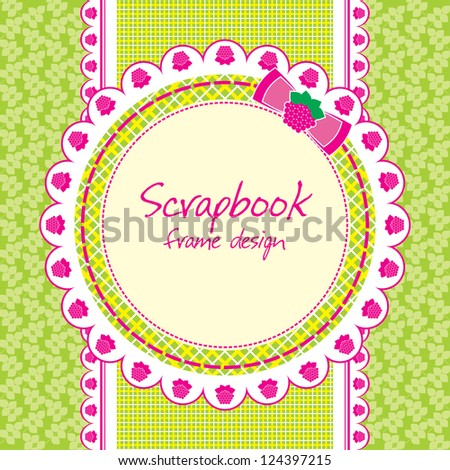 scrapbook lace frame design. vector illustration