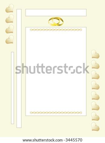 Scrapbook Page Layout - Wedding - stock vector