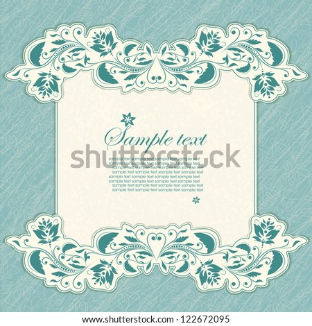 Scrapbook pattern with your text for invitation, greeting, birthday, label, postcard, frame, gift and etc.