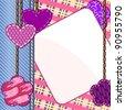 Scrapbook styled valentine card - stock vector