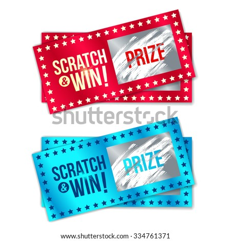 Scratch ticket stock images royalty free images vectors scratch card game and win with effect from scratch marks vector sciox Images