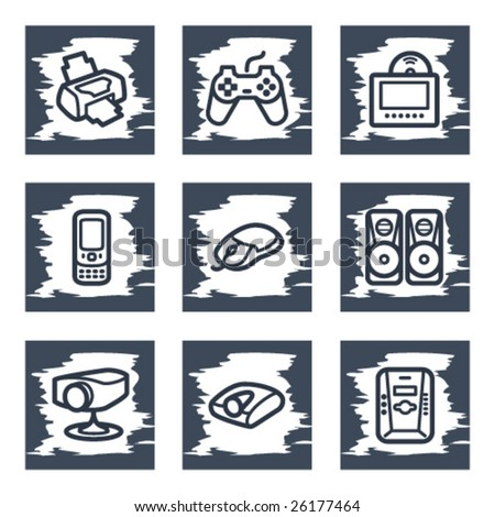 Scratch icon set 21 - stock vector