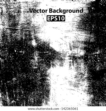Scratched grunge brushed texture. EPS10 vector background. - stock vector