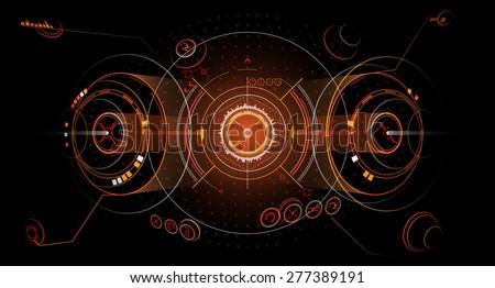 Screen graphics - stock vector