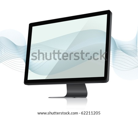 screen icons with abstract background - stock vector