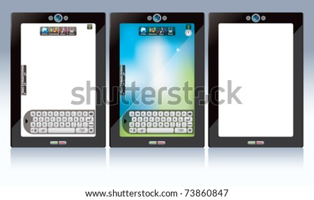screen touch- white screen touch pad - stock vector