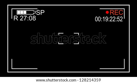screen Video on a black background - stock vector