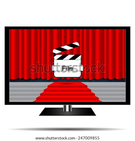 Screen view movie - stock vector