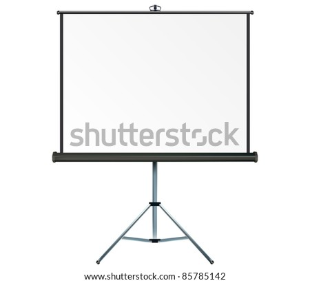 Screen with copy-space, place your own text or images on the projection screen