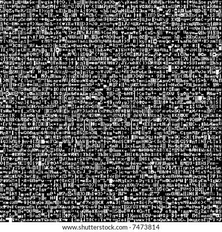 Screenshot font (vector seamless wallpaper) - stock vector