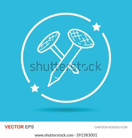 screw color doodle - stock vector