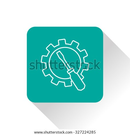 Screwdriver and gear icon, vector illustration