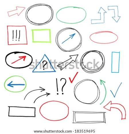 Scribble Design Elements - stock vector
