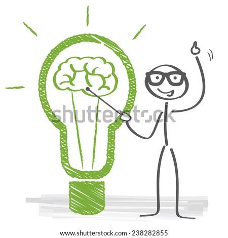 Scribble light bulb idea vector illustration - stock vector