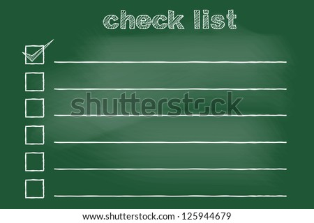 scribble sketch of to do list on blackboard - stock vector
