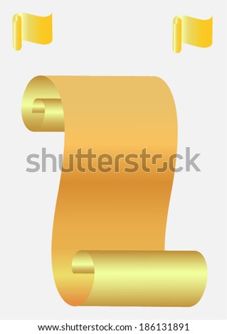 scroll paper  - stock vector