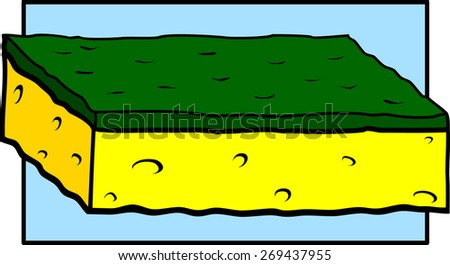 scrub sponge - stock vector