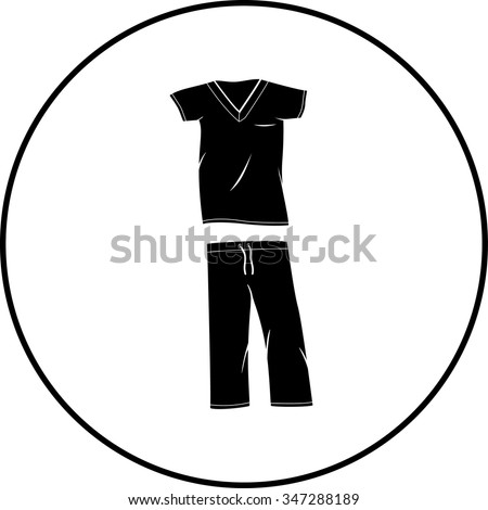 scrubs medical clothing symbol - stock vector