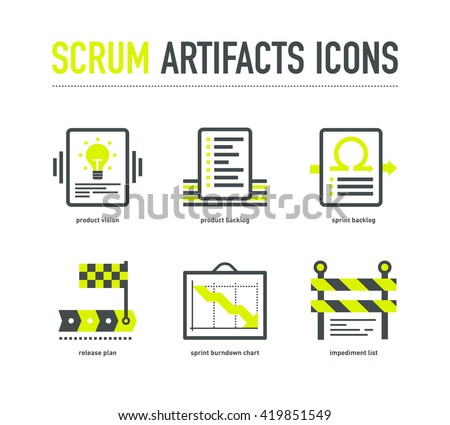Agile scrum stock images royalty free images vectors for Agile artifacts templates