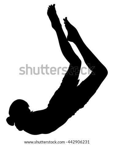 Sporty Fit Yogi Woman Practices Yoga Stock Vector